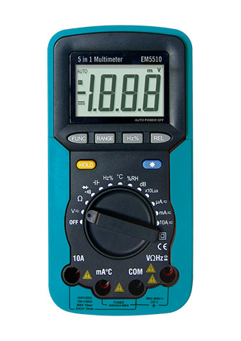 Picture of EM5510, ETL marking, 5 IN 1 AUTORANGING DIGITAL MULTIMETER